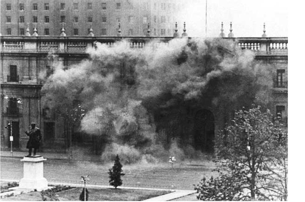 Bombardeo de la Moneda. Golpe 1973