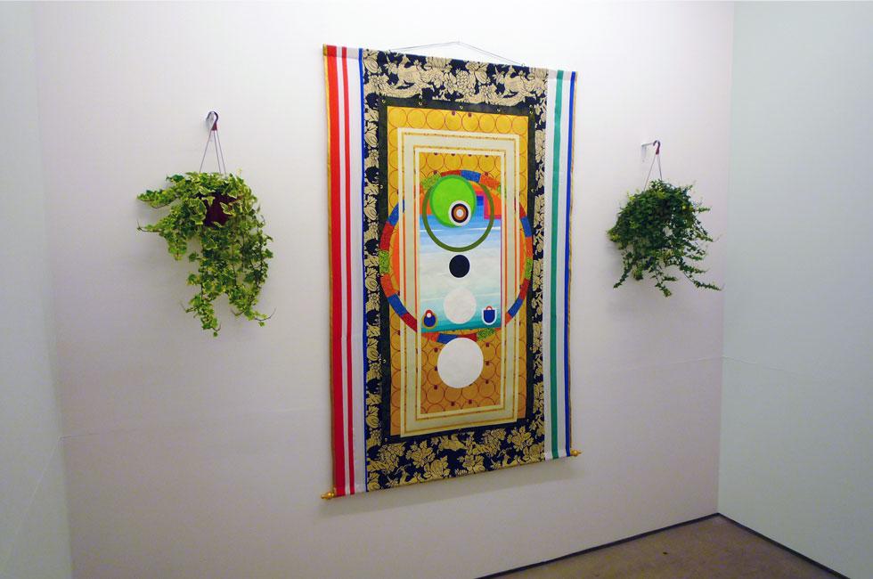 Templo. Vista de la instalación en Galería Magda Bellotti, Madrid.