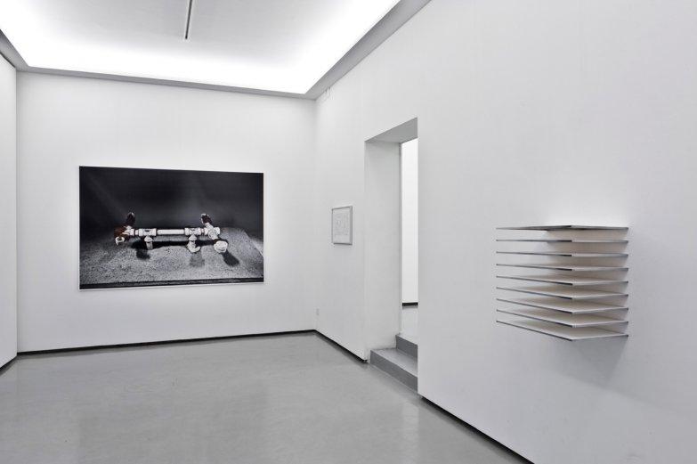 Paralaje. Vista de la exposición en Galería The Goma, 2013