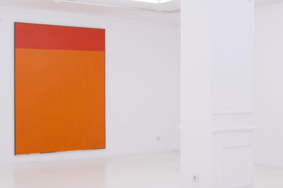 Naranjas, 2014. Acrílico, lienzo y madera 222 x 172 cm