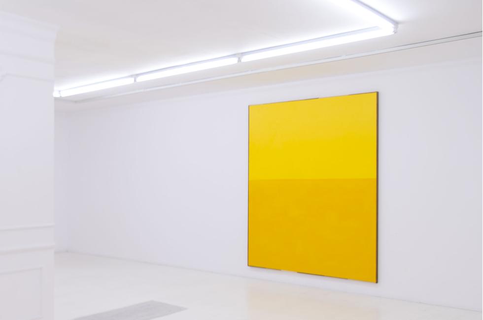 Amarillo, 2014. Acrílico, lienzo y madera 116 x 148 cm