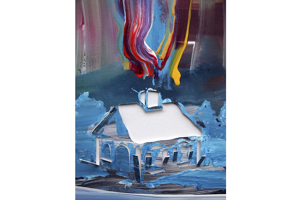 Detalle de instalación Twelve versions of Home de Grace Weinrib en Sub30. Museo de arte Contemporáneo MAC, 2014