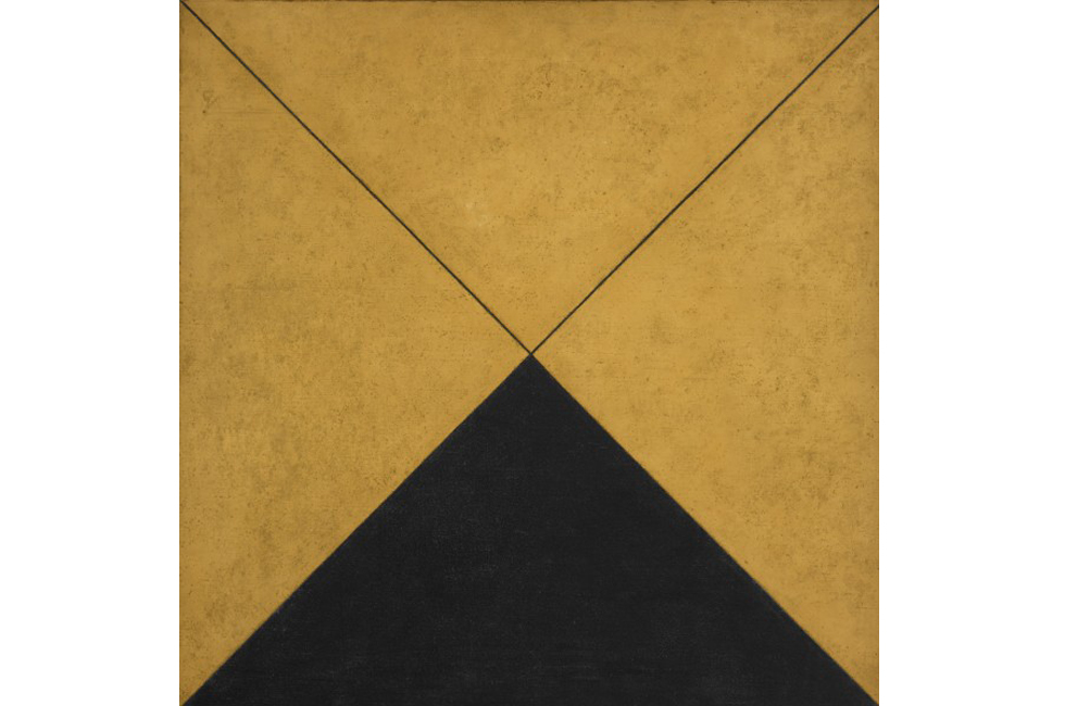 Mira Schendel, Sin título, 1962, óleo sobre tela, 74.9 x 74.7 cm. The Museum of Fine Arts, Houston; The Adolpho Leirner Collection of Brazilian Constructive Art © The Estate of Mira Schendel. Cortesía: Tate Modern